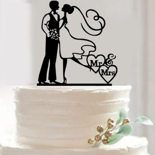Mr & Mrs bruidspaar taarttopper