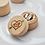 Thumbnail: Ringdoosje hout met jute bekleding gepersonaliseerd
