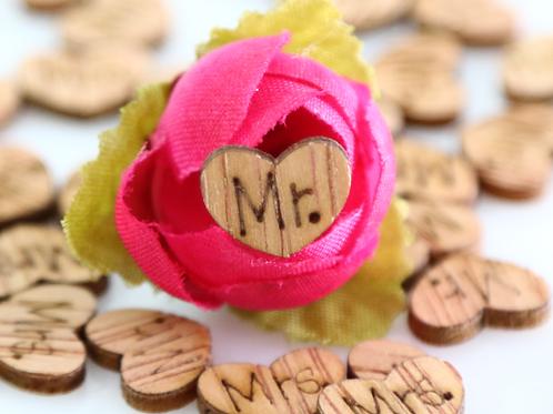 Mr & Mrs houten hartjes