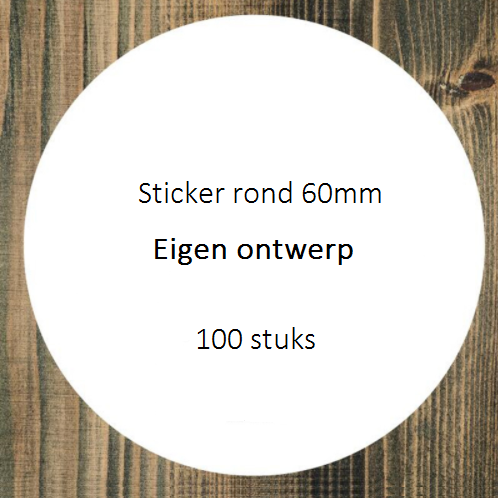 Sticker rond 60mm eigen design