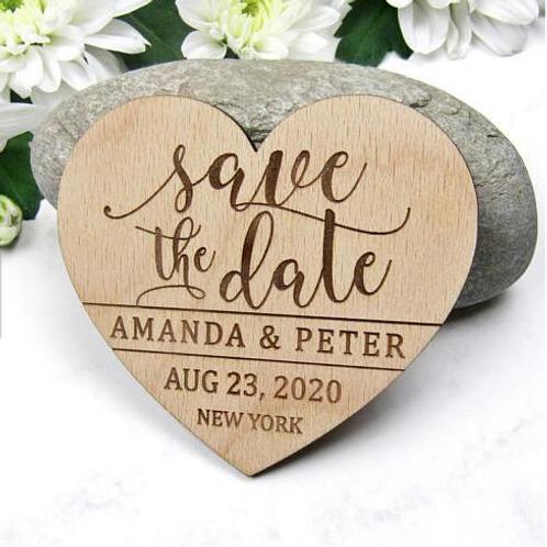 Save the Date hart met sierlijk lettertype