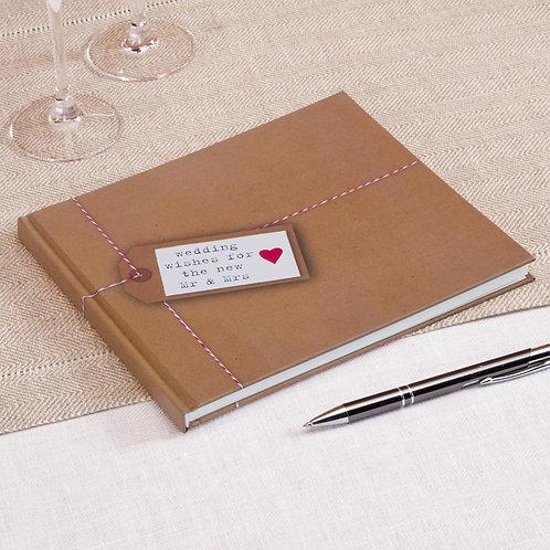 Kraft gastenboek Just my type