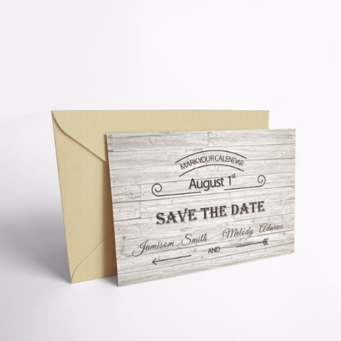 Save the Date houtnerf print