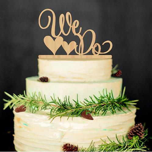Bruidstaart topper ''We Do''