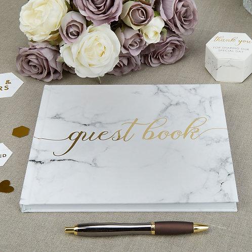 Marmer goud design gastenboek