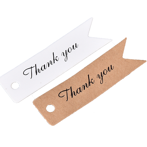Thank you labels voor trouwbedankjes