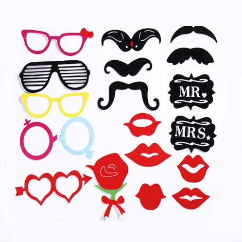 Mr & Mrs photobooth props bruiloft