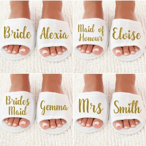 Gepersonaliseerde bruiloft slippers