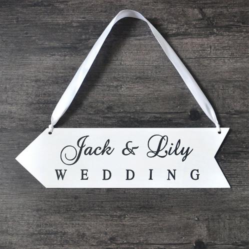Wegwijzer bruiloft gepersonaliseerd