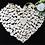 Thumbnail: Hartvormige gastenboek gevormd door kleinere hartjes