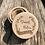 Thumbnail: Ringdoos hout rustiek met bloemen