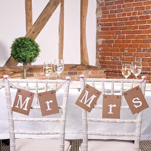 Mr & Mrs stoeldecoratie - Just my type