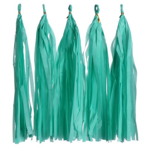 DIY Tassels tiffany blue