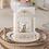 Thumbnail: Trouwkaart met bruidspaar bij de huwelijkspoort met sierlijke print