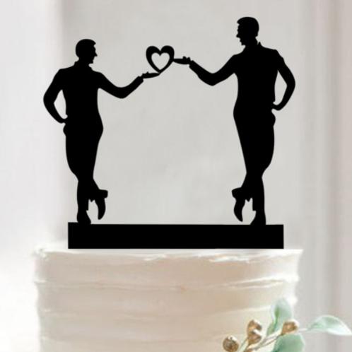Taarttopper voor bruidegommen homohuwelijk