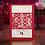 Thumbnail: Trouwkaart traditioneel dubbel geluk rood