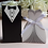 Thumbnail: Trouwbedankjes bruid of bruidegom (zwart/wit)
