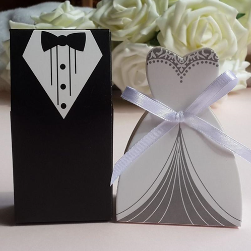 Trouwbedankjes bruid of bruidegom (zwart/wit)