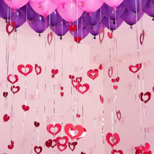Ballonhangers rood in hartvorm