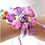 Thumbnail: Corsage paars en roze bloemen