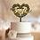 Thumbnail: Bruidstaart topper sierlijk in hartvorm