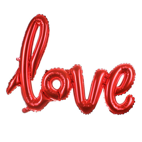 Folieballon rood Love