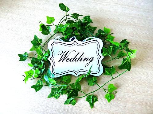 Wedding bruiloft bordje