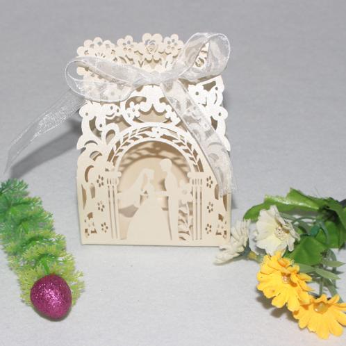 Trouwbedankjes beige bruidspaar