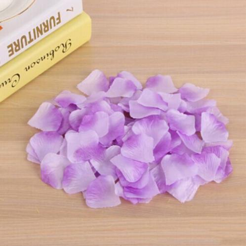 Rozenblaadjes paars met wit