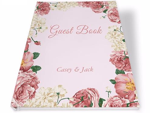 Gastenboek fleurige bloemen