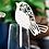 Thumbnail: Plaatskaartje love birds wit/parelachtige glans