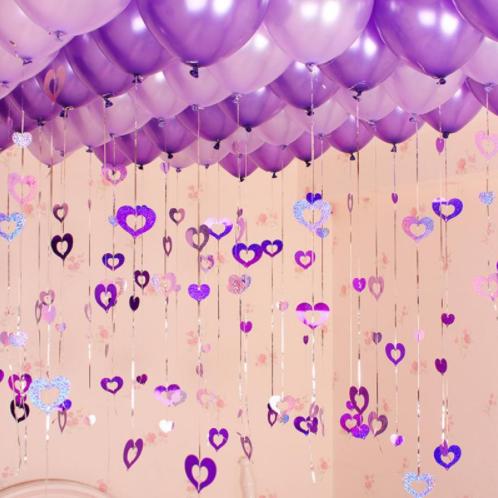 Ballonhangers paars in hartvorm