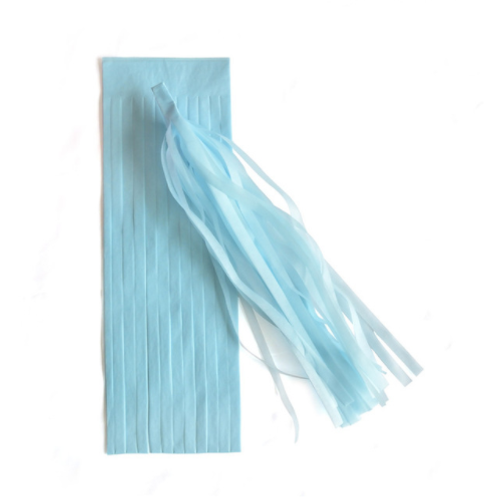 DIY Tassels baby blauw