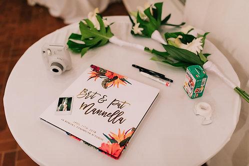 Gastenboek tropisch Hawai set inclusief gelofte boekje