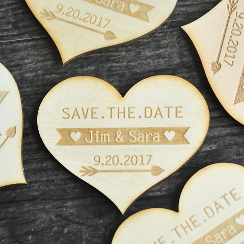 Save the Date magneet hart
