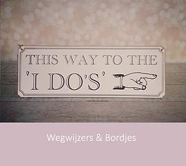 Wegwijzers & bordjes bruiloft | YourWeddingShop