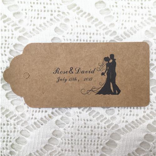 Labels bruidspaar kraft