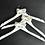 Thumbnail: Trouwjurk hanger wit met strikje