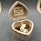 Thumbnail: Gastenboek hout in hartvorm inclusief 100 houten hartjes