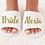 Thumbnail: Gepersonaliseerde bruiloft slippers