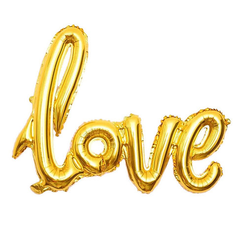 Folieballon goud Love