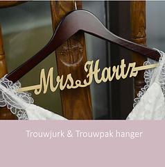 Trouwjurk & Trouwpak hanger