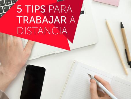 5 tips para adaptarse rápido al trabajo a distancia colaborativo.