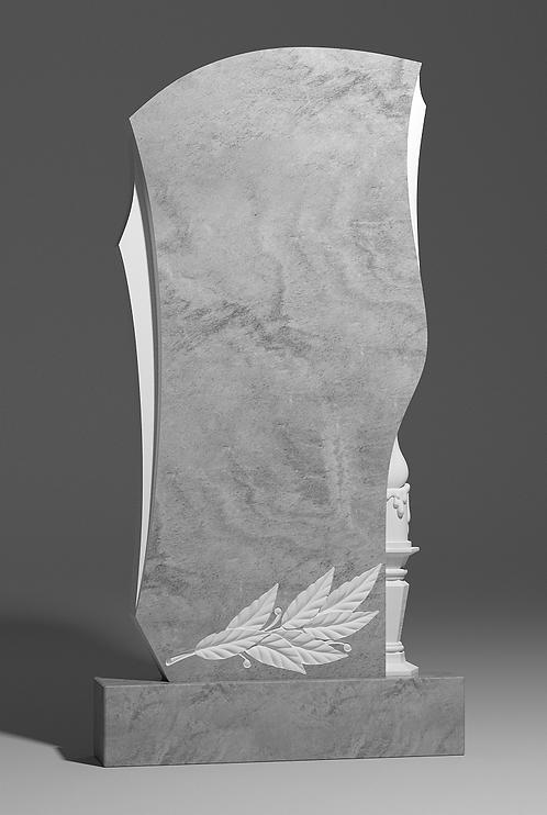 Фигурный памятник из мрамора со свечёй