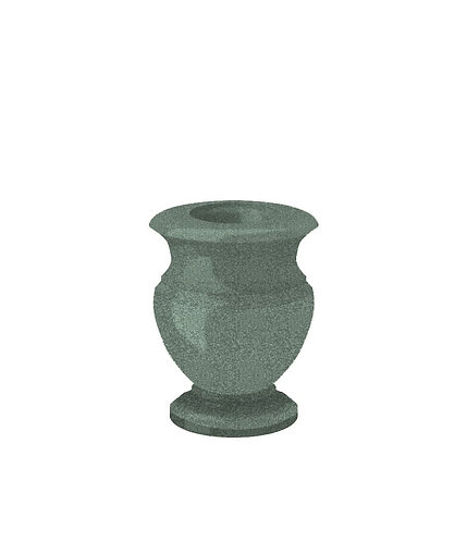 Ваза из зеленого гранита 20 см