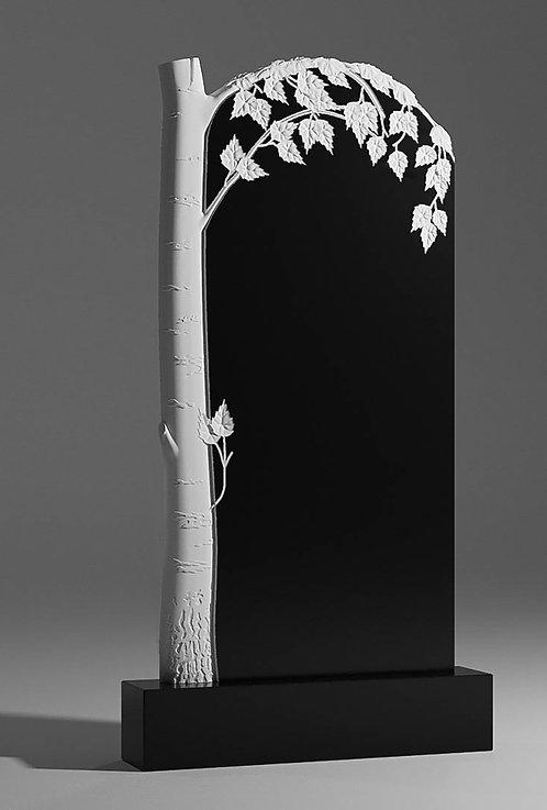 Памятник В-41 с березой