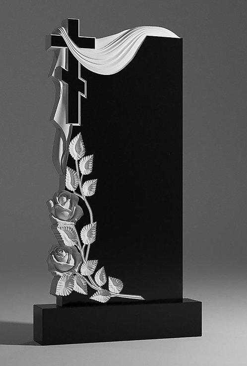 Памятник В-29 С крестом, розами и саваном