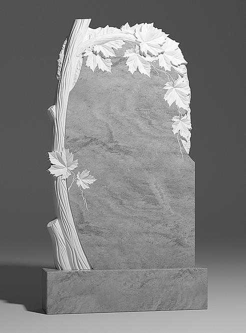 Памятник из мрамора с клёном