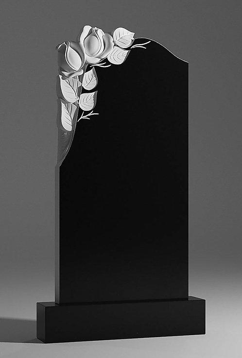 Памятник с двумя розами