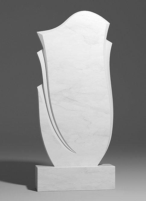 Фигурный памятник из белого мрамора